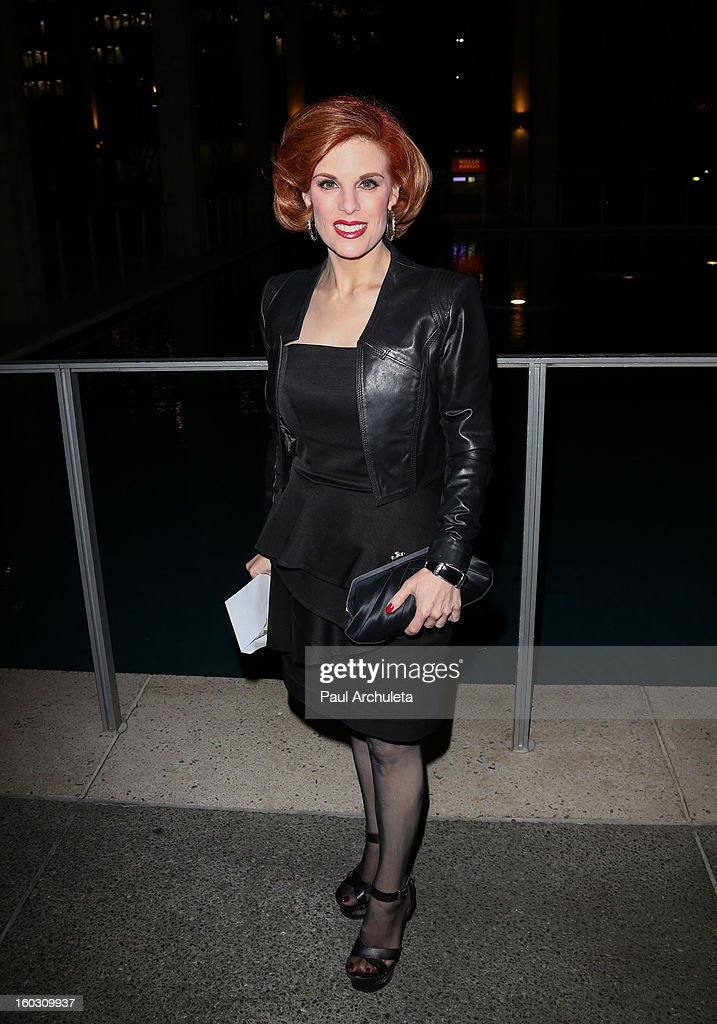 <a gi-track='captionPersonalityLinkClicked' href=/galleries/search?phrase=Kat+Kramer&family=editorial&specificpeople=236074 ng-click='$event.stopPropagation()'>Kat Kramer</a> attends the 'Enter Laughing, The Musical' opening night at the Mark Taper Forum on January 28, 2013 in Los Angeles, California.