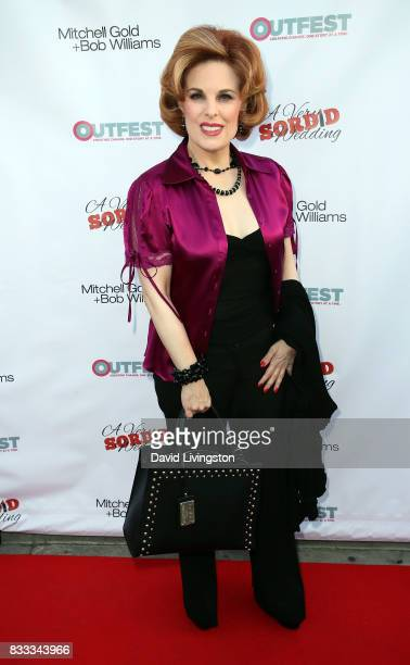 Kat Kramer attends the premiere of Beard Collins Shores Productions' 'A Very Sordid Wedding' at Laemmle's Ahrya Fine Arts Theatre on August 16 2017...