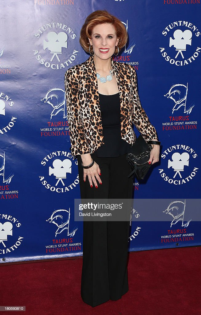 Kat Kramer attends the Stuntmen's Association of Motion Pictures 52nd Annual Awards Dinner to benefit the Taurus World Stunt Awards Foundation at the Hilton Universal City on September 14, 2013 in Universal City, California.