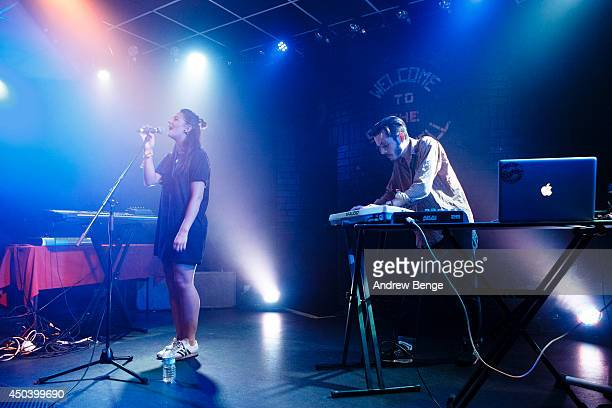 Kat Mchugh and Luke Lount of GirlsOnDrugs perform on stage at Brudenell Social Club on June 10 2014 in Leeds United Kingdom