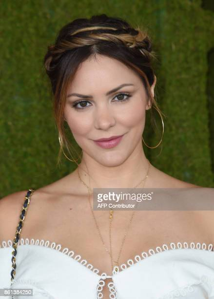 Kat McPhee attends the 8th annual Veuve Clicquot Polo Classic at the Will Rogers State Historic Park in Pacific Palisades on October 14 2017 / AFP...