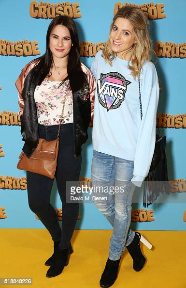 Kat Shoob and Olivia Cox attend a VIP screening of 'Robinson Crusoe' at the Vue West End on April 3 2016 in London England