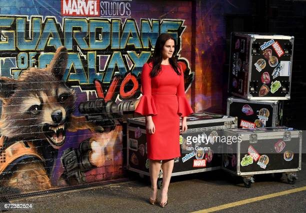 Kat Shoob attends the European launch event of Marvel Studios' 'Guardians of the Galaxy Vol 2' at the Eventim Apollo on April 24 2017 in London...