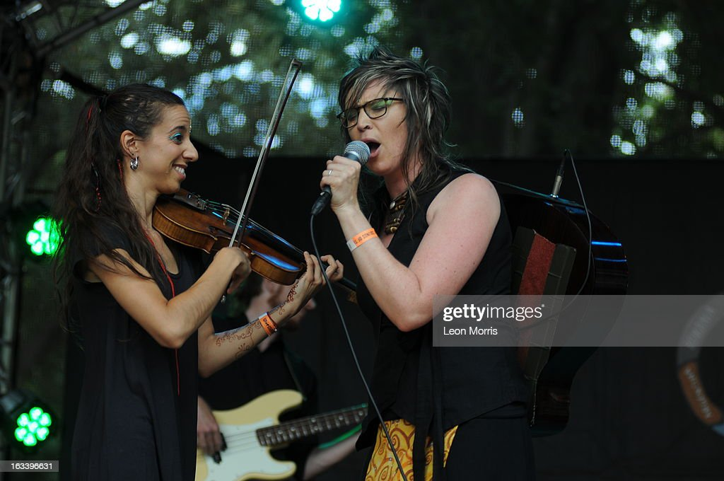 Kat Stevens and Heather Frahn perform on stage at Womadelaide 2013 at Botanic Park on March 9, 2013 in Adelaide, Australia.