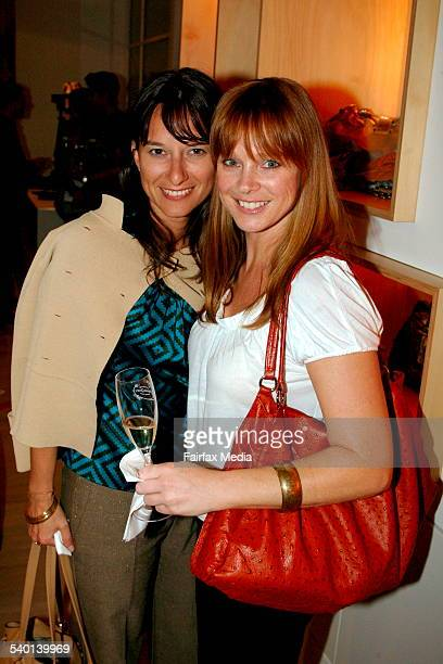 Kat Vidovic and Kimberley Walsh at the Sass Bide denim launch at the Corner Shop in the Strand Arcade Sydney 27 November 2006 SHD Picture by LEE...