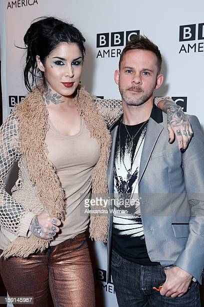 Kat Von D and Dominic Monaghan at BBC America's Premiere Screening Of 'Wild Things With Dominic Monaghan' on January 8 2013 in West Hollywood...