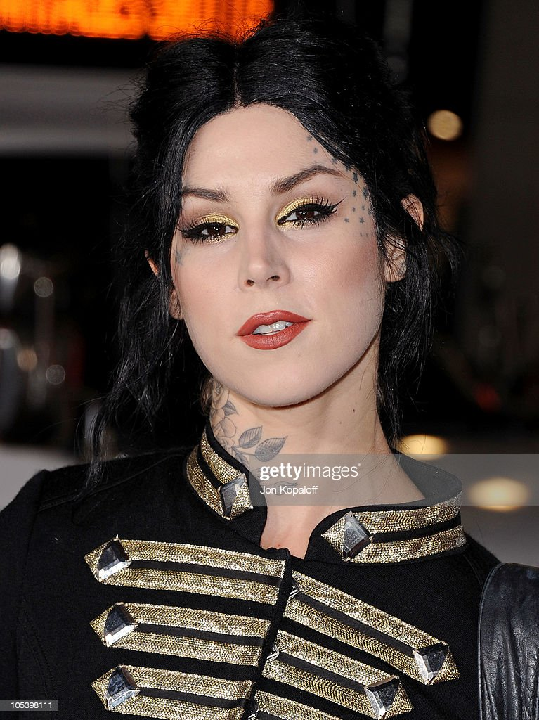 <a gi-track='captionPersonalityLinkClicked' href=/galleries/search?phrase=Kat+Von+D&family=editorial&specificpeople=542668 ng-click='$event.stopPropagation()'>Kat Von D</a> arrives at the Los Angeles Premiere 'Jackass 3D' at Grauman's Chinese Theatre on October 13, 2010 in Hollywood, California.