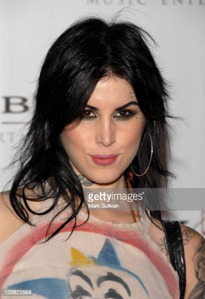 Kat Von D arrives at the Sony/BMG Grammy After Party held on February 10 2008 at the Beverly Hills Hotel in Beverly Hills California