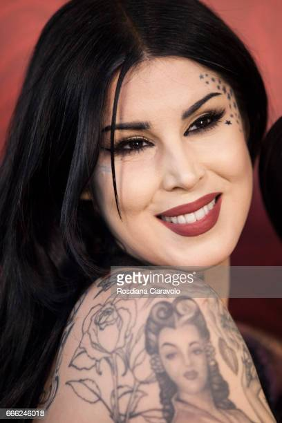 Kat Von D at Sephora Cso Vittorio Emanule Milan on April 8 2017 in Milan Italy