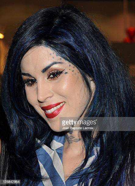 Kat Von D attends the 16th Annual Los Angeles Art Show Opening Night Premiere Party at Getty Center on January 19 2011 in Los Angeles California