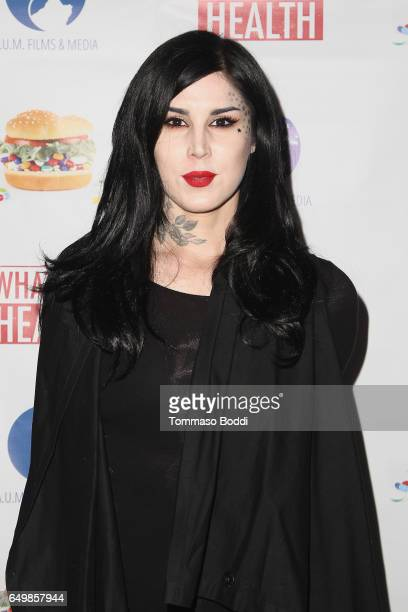 Kat Von D attends the premiere of AUM Films And Media's 'What The Health' at The Downtown Independent on March 8 2017 in Los Angeles California