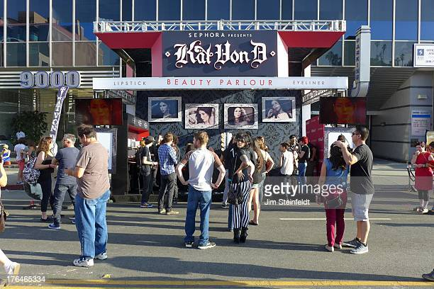 Kat Von D booth at the Sunset Strip Music Festival in Los Angeles California on August 3 2013