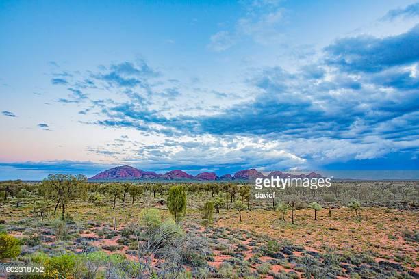 Kata Tjuta Australia Sunrise With Rain Storm Clouds