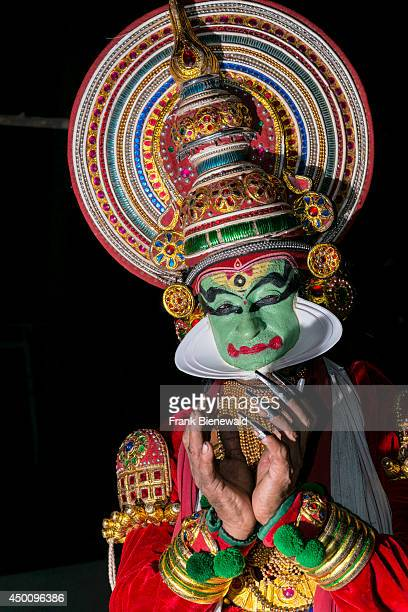 Katakali artist is posing with the make up of the character Jayantha