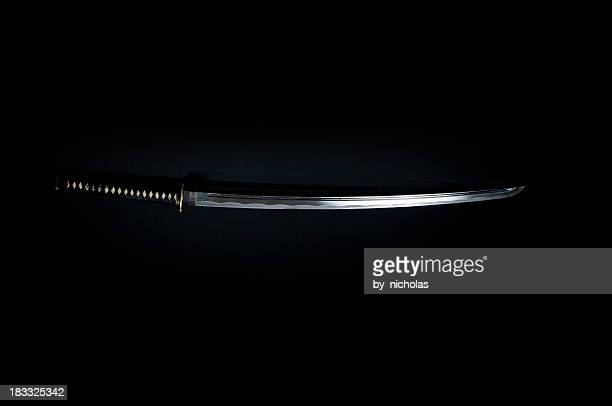 Katana, black background