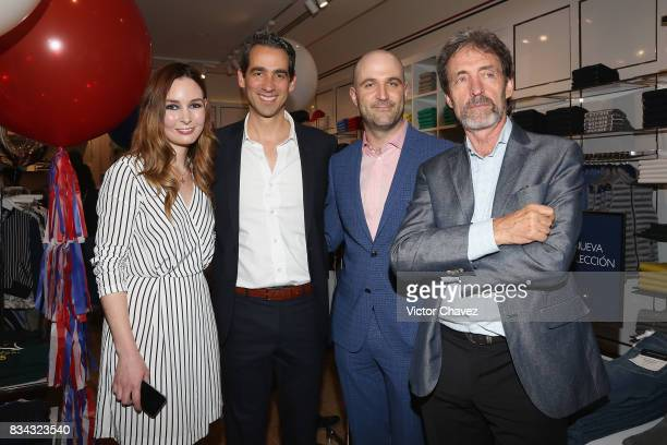 Katarina Cloidt Ramon Soler Eric Levy and Michel Levy attend the Tommy Hilfiger Mexico City store opening at Torre Manacar on August 17 2017 in...