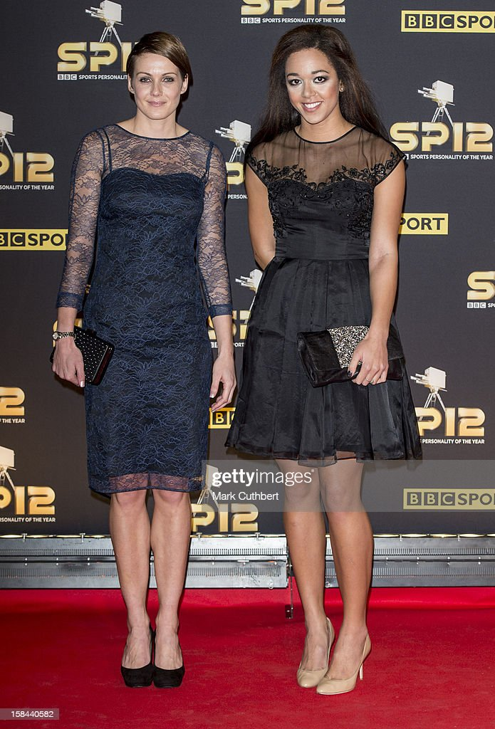 Katarina Johnson-Thompson and Kelly Sotherton attend the BBC Sports Personality Of The Year Awards at ExCel on December 16, 2012 in London, England.