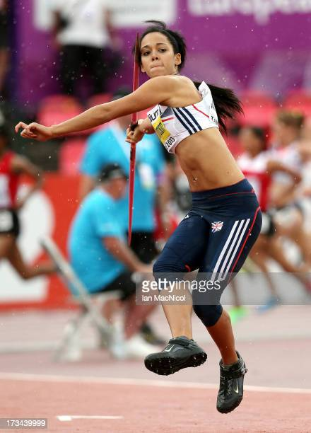 Katarina JohnsonThompson of Great Britain competes in the Javlin during the Heptathlon during day four of The European Athletics U23 Championships...