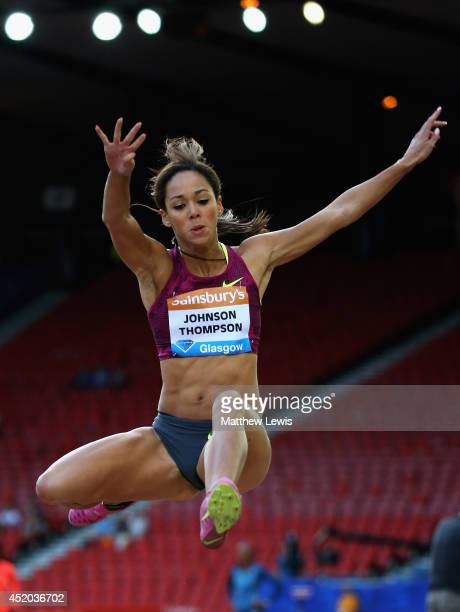 Katarina JohnsonThompson of Great Britain in action during the Womens Long Jump Final during day one of the Diamond League Sainsbury's Glasgow Grand...