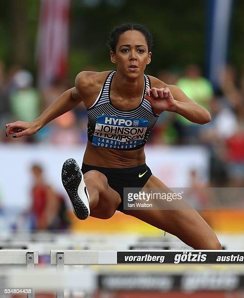 Katarina JohnsonThompson of Great Britain in action in the Women's Heptathlon 100 metres hurdles during the Hypomeeting Gotzis 2016 at the Mosle...