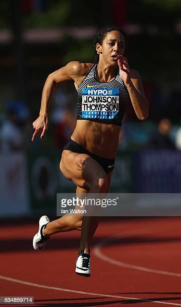 Katarina JohnsonThompson of Great Britain in action in the Women's Heptathlon 200 metres during the Hypomeeting Gotzis 2016 at the Mosle Stadiom on...