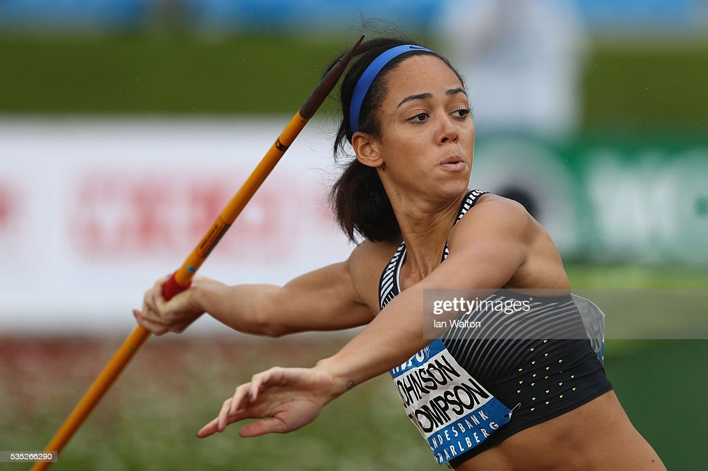 <a gi-track='captionPersonalityLinkClicked' href=/galleries/search?phrase=Katarina+Johnson-Thompson&family=editorial&specificpeople=9493137 ng-click='$event.stopPropagation()'>Katarina Johnson-Thompson</a> of Great Britain in action in the Women's Heptathlon javelin during the Hypomeeting Gotzis 2016 at the Mosle Stadiom on May 29, 2016 in Gotzis, Austria.