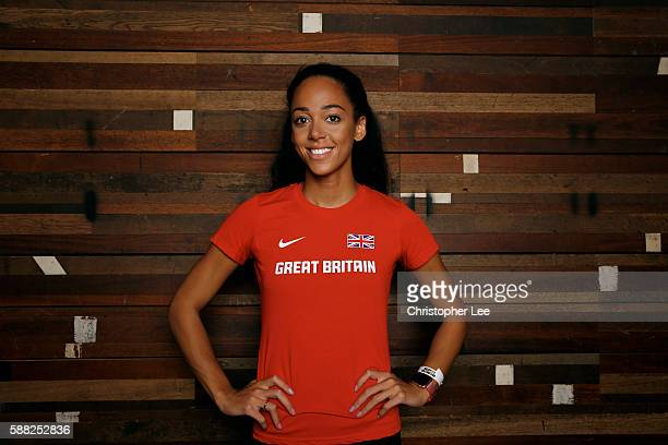 Katarina JohnsonThompson poses after the Unlimited London Parade at Nike Town on July 24 2016 in London England