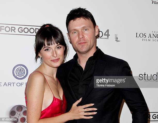 Katarina Mihaylovich and Scott Haze attend the 2016 120 Hour Film Festival at Los Angeles Film School on October 15 2016 in Los Angeles California