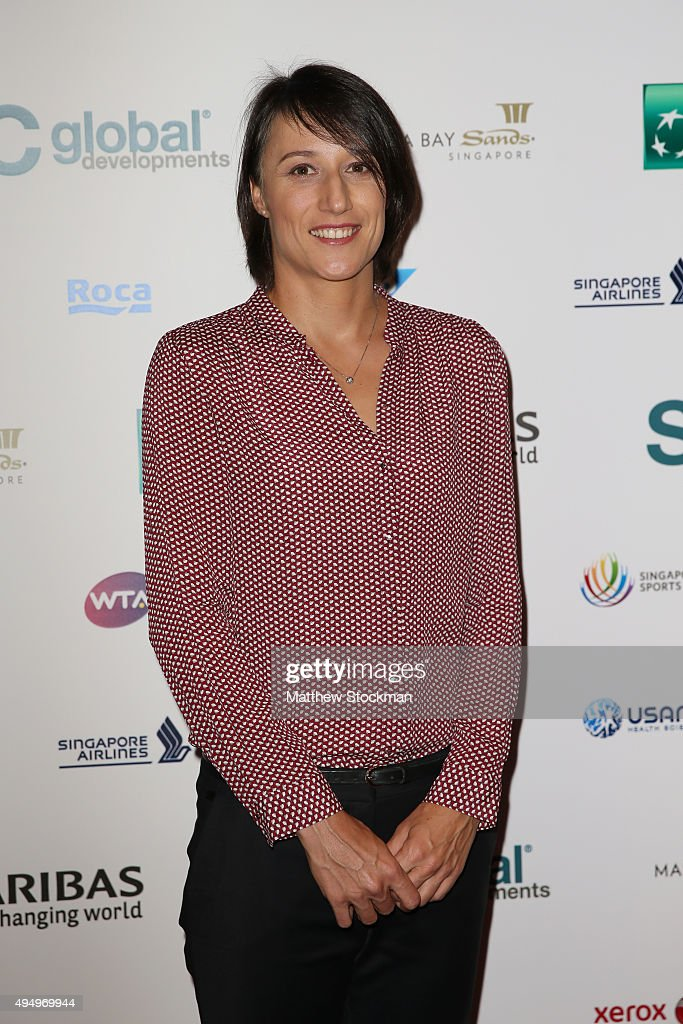Katarina Srebotnik attends Singapore Tennis Evening during BNP Paribas WTA Finals at Marina Bay Sands on October 30, 2015 in Singapore.