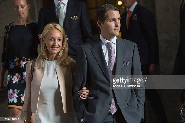 Katarina von Horn and Robert von Horn visit the wedding preparations for HKH Princess Madeleine and Mr Christopher O'Niell on May 19 2013 in...