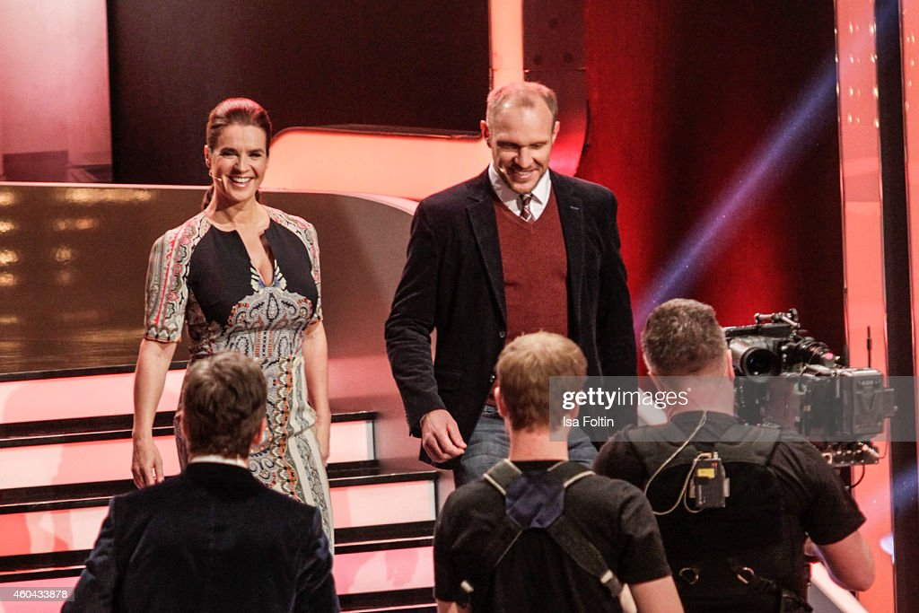 Katarina Witt and Hermann Maier attend the last broadcast of the 'Wetten dass TV show' on December 13 2014 in Nuremberg Germany