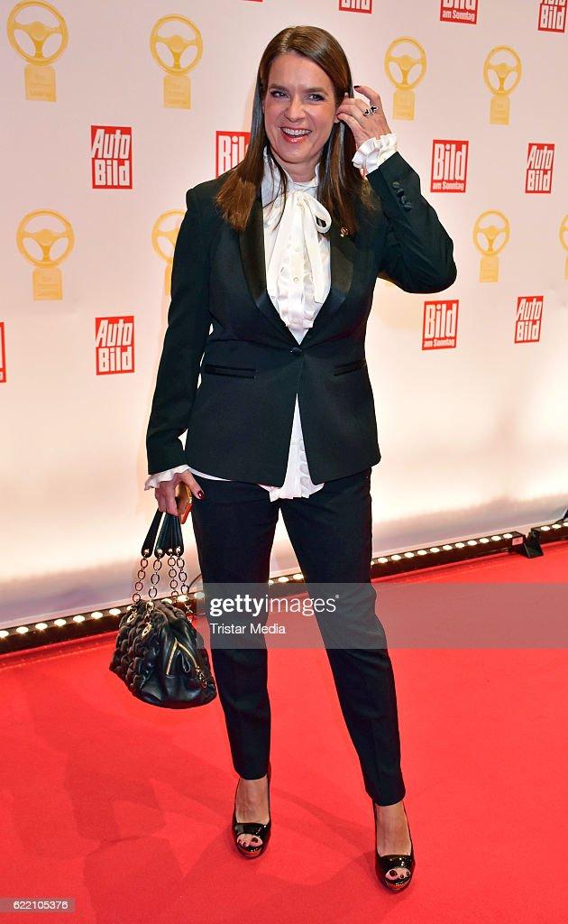 Katarina Witt attend the 'Goldenes Lenkrad' Award at Axel Springer Haus on November 8, 2016 in Berlin, Germany.