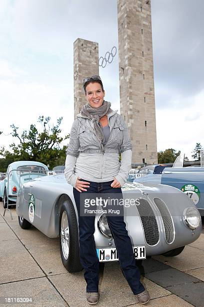 Katarina Witt attends the HamburgBerlin Klassik Rallye 2013 Day 1 on September 19 2013 in Berlin Germany