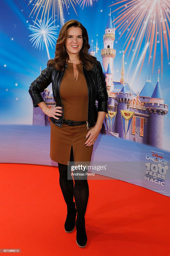 Katarina Witt attends the premiere of 'Disney on Ice - 100 Jahre voller Zauber' at Lanxess Arena on November 4, 2016 in Cologne, Germany.