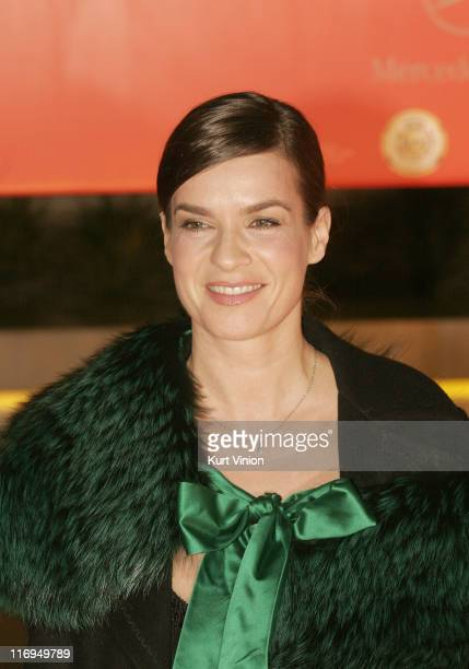 Katarina Witt during 40th Annual Goldene Kamera Outside Arrivals at Axel Springer House in Berlin Germany