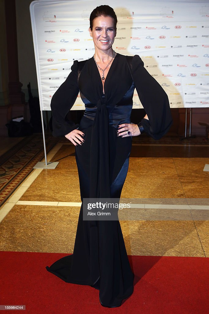 <a gi-track='captionPersonalityLinkClicked' href=/galleries/search?phrase=Katarina+Witt&family=editorial&specificpeople=203221 ng-click='$event.stopPropagation()'>Katarina Witt</a> poses during the 31. Sportpresseball at Alte Oper on November 10, 2012 in Frankfurt am Main, Germany.
