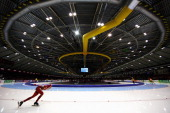 Katarzyna BachledaCurus of Poland competes in the 3000m Ladies Race during day one of the Essent ISU World Allround Speed Skating Championships at...