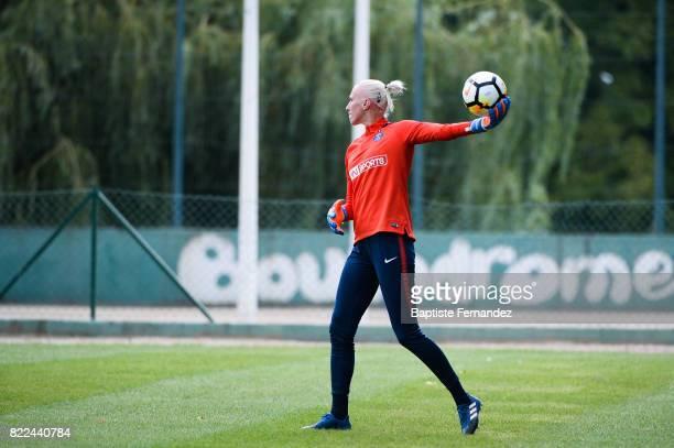 Katarzyna Kiedrzynek of Paris Saint Germain during a training session of Paris Saint Germain at Bougival on July 25 2017 in Paris France