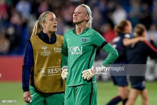 Katarzyna Kiedrzynek of Paris SaintGermain cries after failed the last penalty kick during the UEFA Women's Champions League Final between Lyon Women...