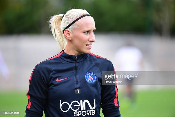 Katarzyna Kiedrzynek of PSG during the women's French D1 league match between PSG and Olympique de Marseille at Camp des Loges on September 25 2016...