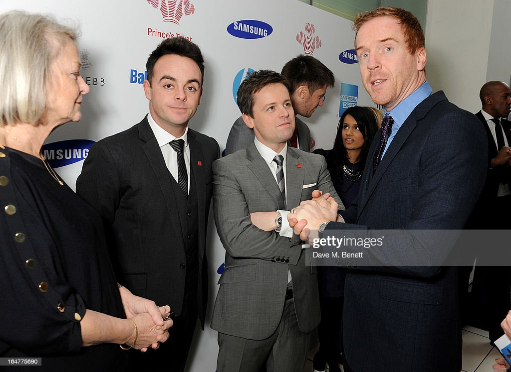 Kate Adie, Anthony McPartlin, Declan Donnelly and Damian Lewis attend The Prince's Trust & Samsung Celebrate Success Awards at Odeon Leicester Square on March 26, 2013 in London, England.