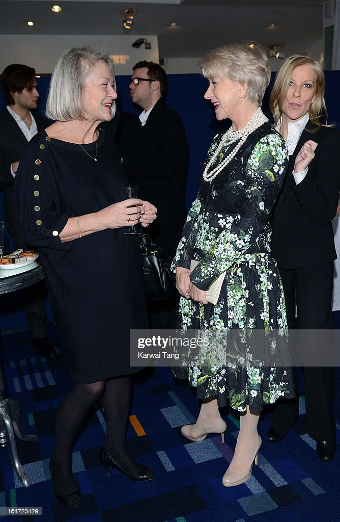 Kate Adie OBE and Dame <a gi-track='captionPersonalityLinkClicked' href=/galleries/search?phrase=Helen+Mirren&family=editorial&specificpeople=201576 ng-click='$event.stopPropagation()'>Helen Mirren</a> attends the Prince's Trust Celebrate Success Awards at Odeon Leicester Square on March 26, 2013 in London, England.