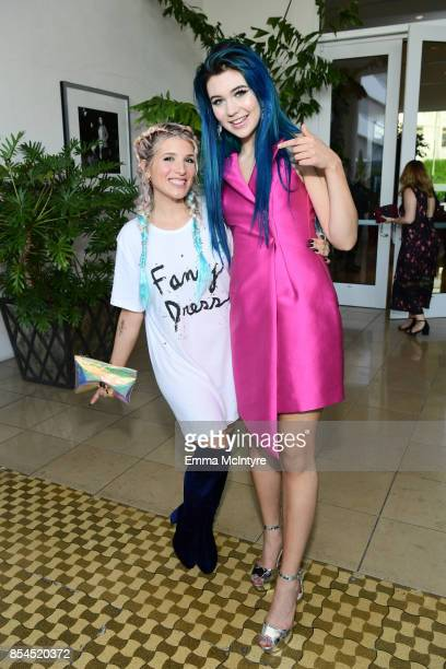 Kate Albrecht and Jessie Paege at the 2017 Streamy Awards at The Beverly Hilton Hotel on September 26 2017 in Beverly Hills California