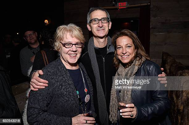 Kate Amend Ken Jacobson and Susan Turley attend the Film Independent International Documentary Association Oovra Music And RO*CO FILMS Sundance Party...