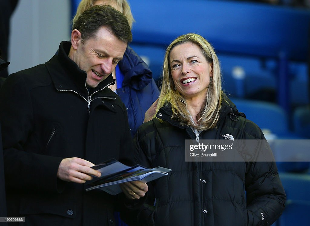 Kate and <a gi-track='captionPersonalityLinkClicked' href=/galleries/search?phrase=Gerry+McCann&family=editorial&specificpeople=4278561 ng-click='$event.stopPropagation()'>Gerry McCann</a> attend the Budweiser FA Cup Third Round match between Everton and Queens Park Rangers at Goodison Park on January 4, 2014 in Liverpool, England.