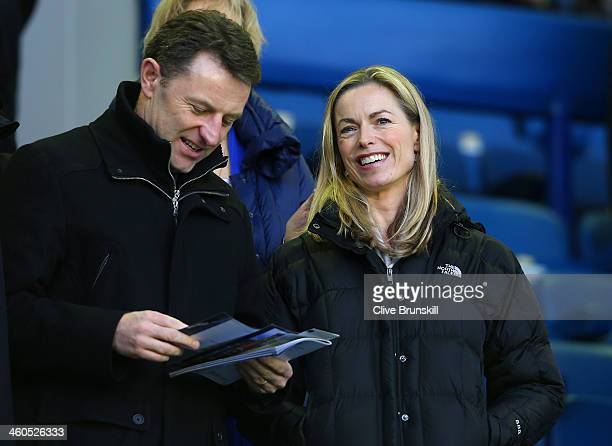 Kate and Gerry McCann attend the Budweiser FA Cup Third Round match between Everton and Queens Park Rangers at Goodison Park on January 4 2014 in...