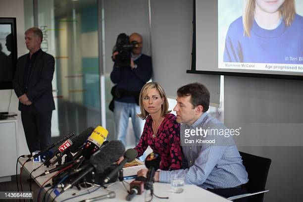 Kate and Gerry McCann hold a news conference to mark the 5th anniversary of the disappearance of their daughter Madeleine McCann on May 2 2012 in...