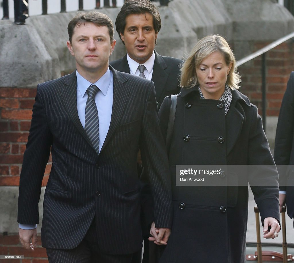 Kate and <a gi-track='captionPersonalityLinkClicked' href=/galleries/search?phrase=Gerry+McCann&family=editorial&specificpeople=4278561 ng-click='$event.stopPropagation()'>Gerry McCann</a>, parents of missing Madeleine McCann, arrive to give evidence to The Leveson Inquiry at The Royal Courts of Justice on November 23, 2011 in London, England. The inquiry is being lead by Lord Justice Leveson and is looking into the culture, practice and ethics of the press in the United Kingdom. The inquiry, which will take evidence from interested parties and may take a year or more to complete, comes in the wake of the phone hacking scandal that saw the closure of The News of The World newspaper.