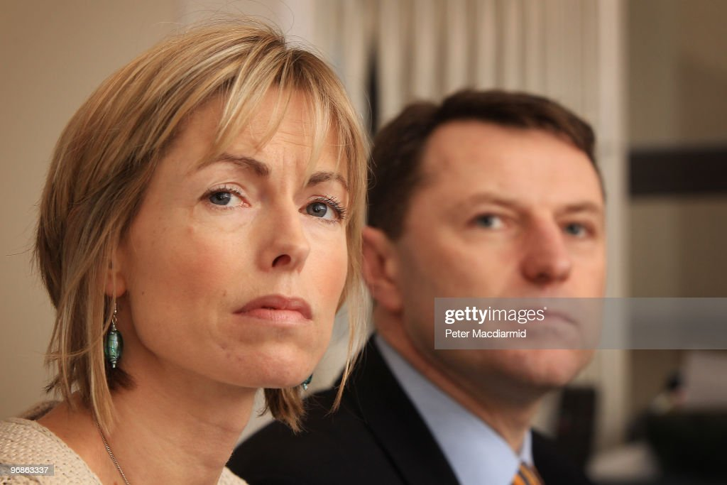 Kate and <a gi-track='captionPersonalityLinkClicked' href=/galleries/search?phrase=Gerry+McCann&family=editorial&specificpeople=4278561 ng-click='$event.stopPropagation()'>Gerry McCann</a> speak to reporters on February 19, 2010 in London. Yesterday the McCann's won a legal battle to stop the publication of a book entitled 'Maddie: The Truth Of The Lie' in Portugal. Three year old Madeleine McCann went missing while on holiday with her parents in the Algarve region of Portugal in May 2007