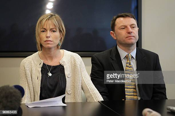 Kate and Gerry McCann speak to reporters on February 19 2010 in London Yesterday the McCann's won a legal battle to stop the publication of a book...